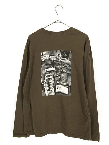 [3] 古着 00s Patagonia カラビナ フォト ロングスリーブ Tシャツ ロンT M 古着