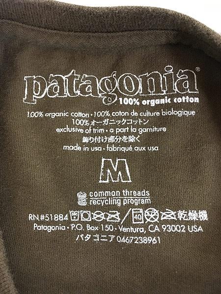 [5] 古着 00s Patagonia カラビナ フォト ロングスリーブ Tシャツ ロンT M 古着