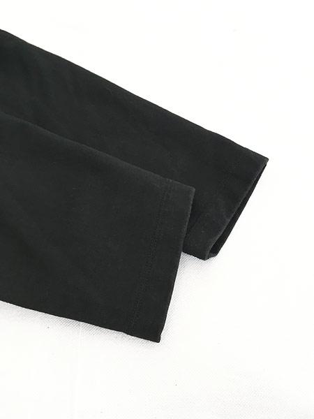 [5] 古着 POLO SPORT Ralph Lauren ストレッチ ハーフジップ ロンT カットソー 黒 L 古着