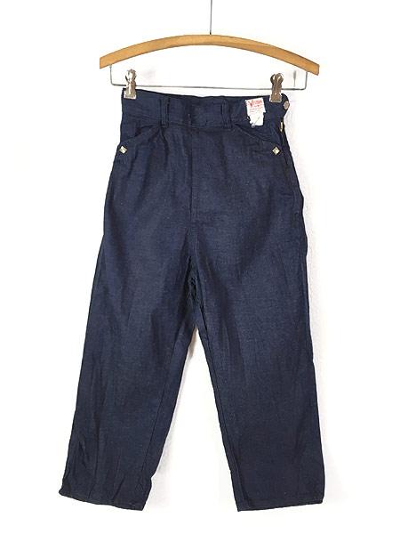 [1] キッズ 古着 60s WESTERN GIRL 濃紺 デニム ウエスタン パンツ 美品!! 7歳以上 子供服 古着