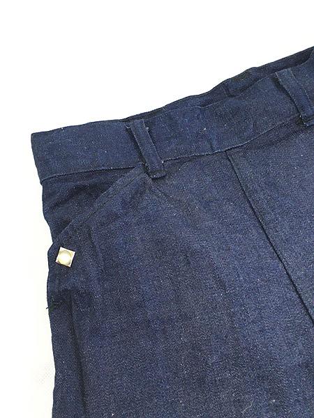 [3] キッズ 古着 60s WESTERN GIRL 濃紺 デニム ウエスタン パンツ 美品!! 7歳以上 子供服 古着