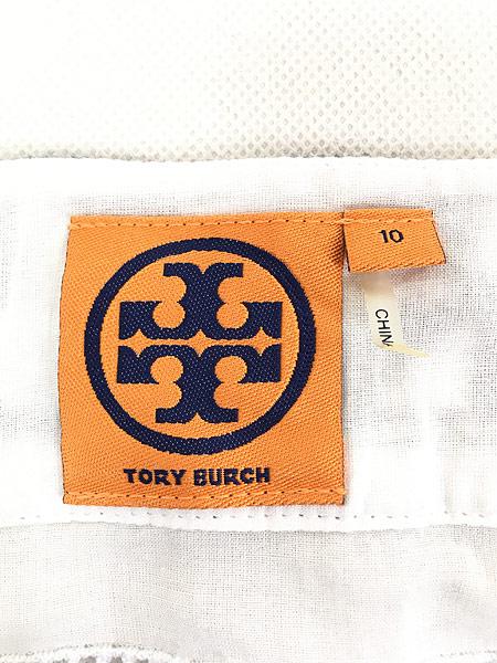 [6] レディース 古着 TORY BURCH フォークロア 刺しゅう 半袖 チュニック トップス M位 古着