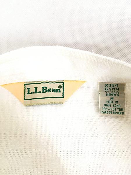 [6] レディース 古着 80s LL Bean ブロッキング ガーゼ コットン ノーカラー シャツ XL位 古着