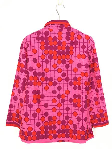 [3] レディース 古着 Vera Neumann ヴェラ 水玉 ドット アート デザイン コットン シャツ L位 古着