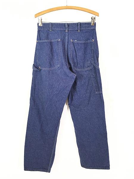 [3] レディース 古着 70s Sears 濃紺 デニム バットダイ ワーク ペインター パンツ W29 L29 古着