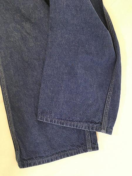 [5] レディース 古着 70s Sears 濃紺 デニム バットダイ ワーク ペインター パンツ W29 L29 古着