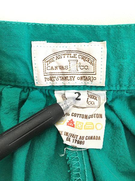 [8] レディース 古着 80s Canada製 THE KETTLE CREEK ワイド シルエット キュロット ガウチョ パンツ L位 古着