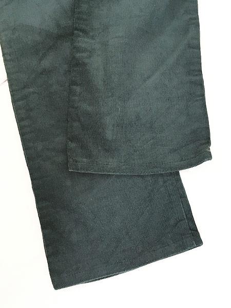 [5] レディース 古着 80s Levi's 519-1532 オールド コーデュロイ パンツ コーズ スリム 人気 緑 W29 L30 古着