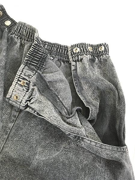 [4] レディース 古着 90s USA製 J Michelle ケミカル ブラック デニム テーパード パンツ Free 古着