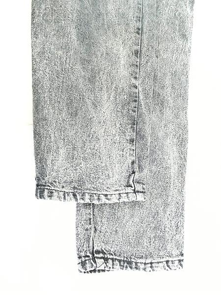 [5] レディース 古着 90s USA製 J Michelle ケミカル ブラック デニム テーパード パンツ Free 古着