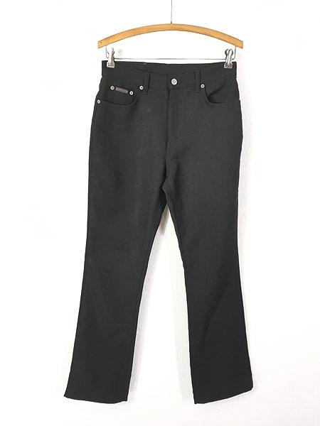 [1] レディース 古着 USA製 CK Calvin Klein 光沢 スラックス パンツ ブーツカット W29 L29.5 古着