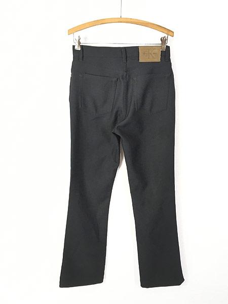 [2] レディース 古着 USA製 CK Calvin Klein 光沢 スラックス パンツ ブーツカット W29 L29.5 古着