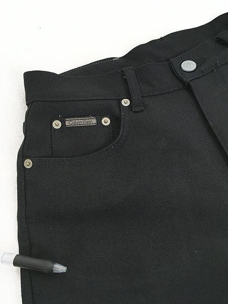 [3] レディース 古着 USA製 CK Calvin Klein 光沢 スラックス パンツ ブーツカット W29 L29.5 古着