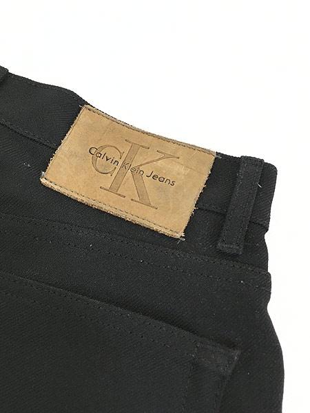 [6] レディース 古着 USA製 CK Calvin Klein 光沢 スラックス パンツ ブーツカット W29 L29.5 古着