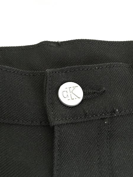 [7] レディース 古着 USA製 CK Calvin Klein 光沢 スラックス パンツ ブーツカット W29 L29.5 古着