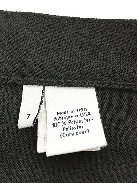 [8] レディース 古着 USA製 CK Calvin Klein 光沢 スラックス パンツ ブーツカット W29 L29.5 古着