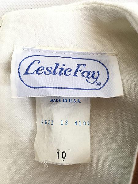 [8] レディース 古着 80s Leslie Fay 異素材 デザイン ドルマン スリーブ トップス カットソー L位 古着