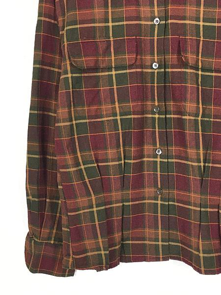 [3] レディース 古着 90s Ralph Lauren 丸襟 クラシック ウール コットン チェック シャツ S位 古着