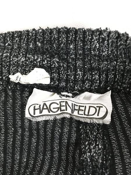 [7] レディース 古着 80s HAGENFELDT 光沢 太畝 ベロア パンツ テーパード W29 L29.5 古着