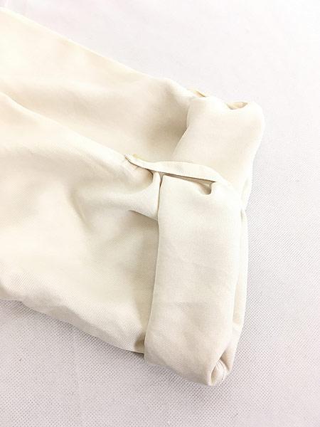 [5] レディース 古着 LAUREN Ralph Lauren 上質 100%シルク バンドカラー シャツ S 古着