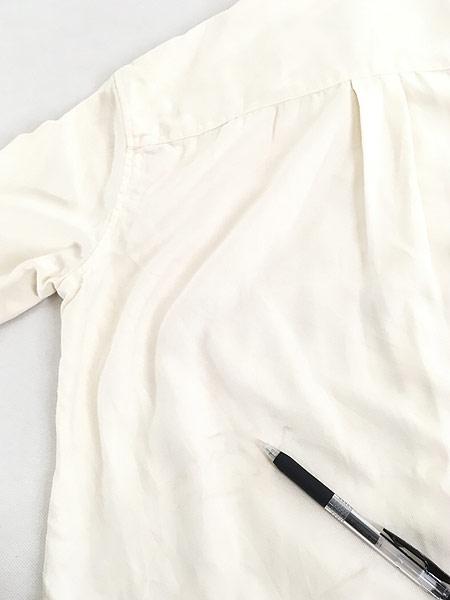 [6] レディース 古着 LAUREN Ralph Lauren 上質 100%シルク バンドカラー シャツ S 古着