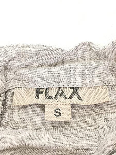 [8] レディース 古着 FLAX シンプル リネン ノースリーブ ワンピース ドレス ミドル丈 S 古着