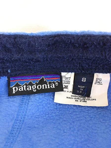 [6] レディース 古着 99s USA製 Patagonia シンチラ フリース イージー パンツ 美品!! M位 古着