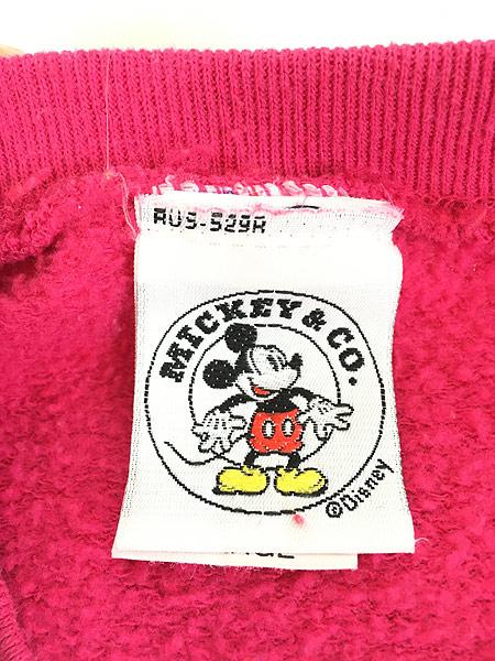 [5] レディース 古着 90s USA製 Disney Mickey ミッキー イニシャル 刺しゅう キャラクター スウェット XL位 古着