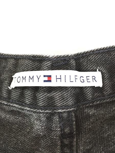 [7] レディース 古着 TOMMY HILFIGER トミー ブラック デニム パンツ ジーンズ テーパード W29 L30  古着