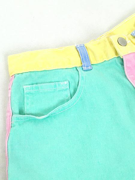 [3] レディース 古着 USA製 American Apparel パステル クレイジー ショーツ ショート パンツ W30 古着