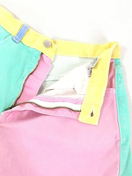 [4] レディース 古着 USA製 American Apparel パステル クレイジー ショーツ ショート パンツ W30 古着