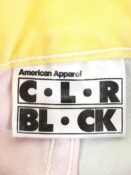 [6] レディース 古着 USA製 American Apparel パステル クレイジー ショーツ ショート パンツ W30 古着