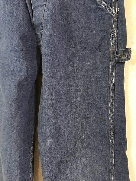 [3] レディース 古着 70s Sears サンライズ カスタム 刺しゅう デニム オーバーオール W34 L28 古着