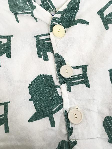 [5] レディース 古着 80s USA製 Michigan Rag 椅子 フランネル グランパシャツ ワンピース ドレス S/M 古着