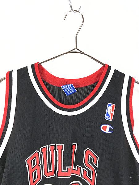 [2] レディース 古着 Champion製 NBA Chicago BULLS No.23 「JORDAN」 メッシュ タンクトップ S位 古着