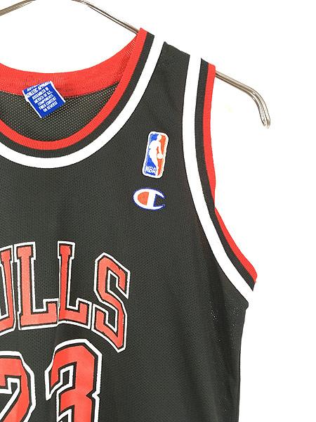 [3] レディース 古着 Champion製 NBA Chicago BULLS No.23 「JORDAN」 メッシュ タンクトップ S位 古着