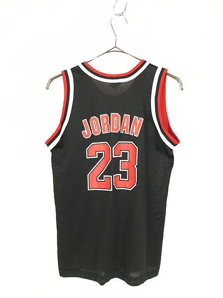 [4] レディース 古着 Champion製 NBA Chicago BULLS No.23 「JORDAN」 メッシュ タンクトップ S位 古着