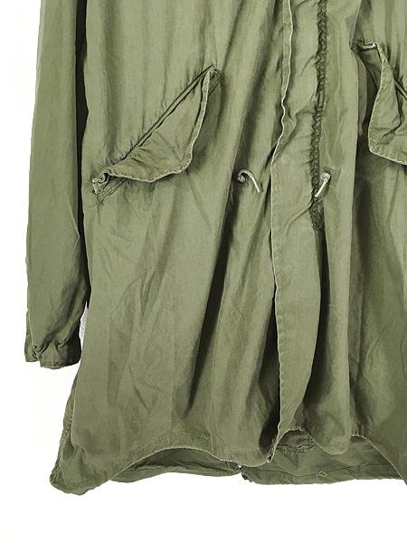 [3] 古着 80s 米軍 US ARMY M-65 ミリタリー モッズ パーカー コート フィッシュテール フード付!! L 古着