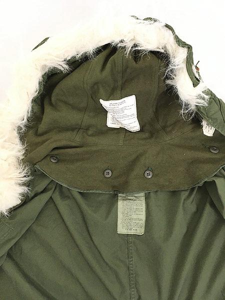 [5] 古着 80s 米軍 US ARMY M-65 ミリタリー モッズ パーカー コート フィッシュテール フード付!! L 古着