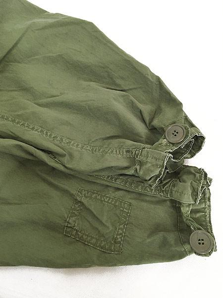 [8] 古着 80s 米軍 US ARMY M-65 ミリタリー モッズ パーカー コート フィッシュテール フード付!! L 古着
