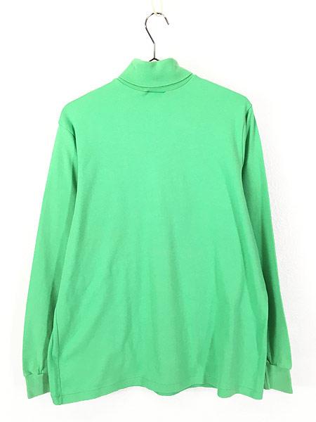 [3] 古着 80s USA製 O'NEILL ワンポイント 蛍光 タートルネック ロング Tシャツ カットソー L 古着