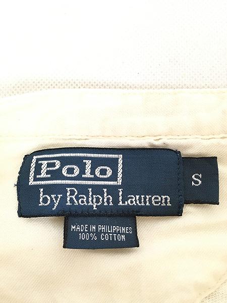 [5] 古着 POLO Ralph Lauren 段リブ マチ付き ヘンリーネック サーマル シャツ トップス S 古着