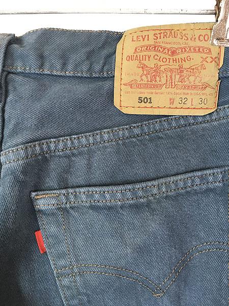 [4] 古着 90s USA製 Levi's 501 後染め オーバーダイ デニム パンツ ジーンズ ストレート W31 L29 古着