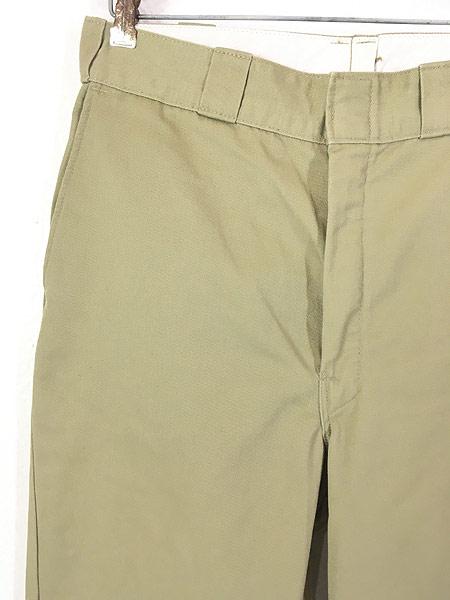 [2] 古着 90s USA製 Dickies 2874 チェック ネル ライナー オールド ワーク チノ パンツ W32 L31 古着