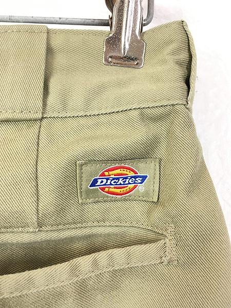[4] 古着 90s USA製 Dickies 2874 チェック ネル ライナー オールド ワーク チノ パンツ W32 L31 古着