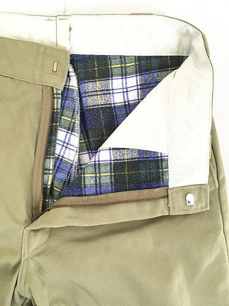 [6] 古着 90s USA製 Dickies 2874 チェック ネル ライナー オールド ワーク チノ パンツ W32 L31 古着