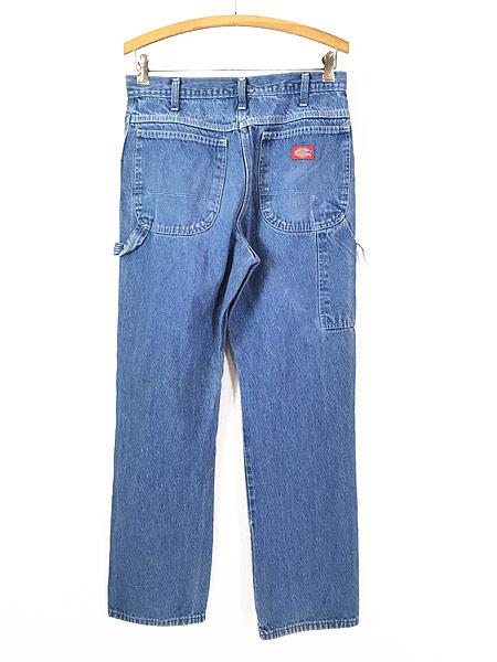 [4] 古着 90s Dickies ディッキーズ デニム ワーク ペインター パンツ W31 L31 古着