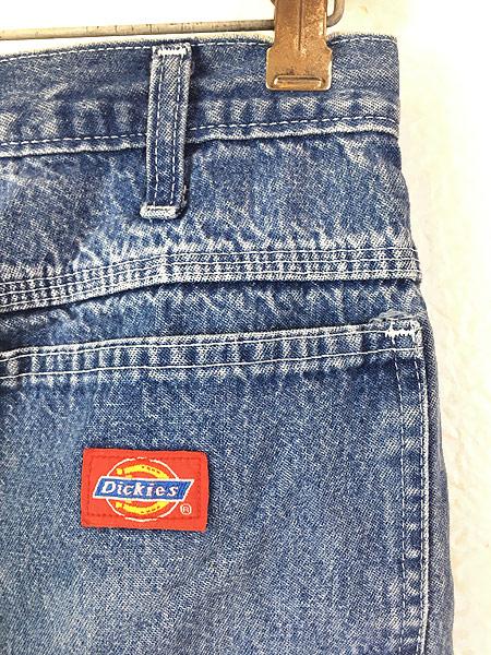 [5] 古着 90s Dickies ディッキーズ デニム ワーク ペインター パンツ W31 L31 古着