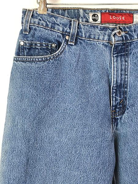[2] 古着 90s USA製 Levi's SILVER TAB 「Loose」 デニム パンツ ジーンズ テーパード W34 L31 古着