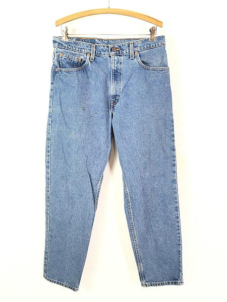 [1] 古着 90s USA製 Levi's 550 ブルー デニム パンツ ジーンズ テーパード W33 L30 古着